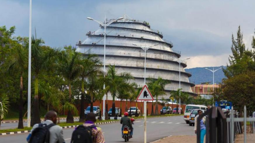 The Kigali Convention Centre is one of the hallmarks of Rwanda's development.  (File)