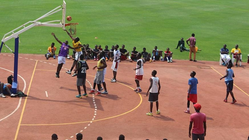 Young basketball players take part in a talent detection training camp at Amahoro National Stadium. (Courtesy)