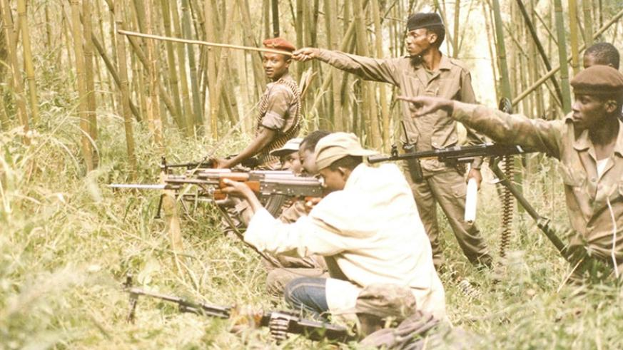 The bamboo thicket gave the fighters cover to conduct their drills without being heard by the enemy. Courtesy.