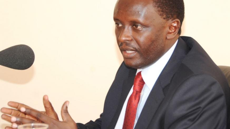 Martin Ngoga, one of Rwanda's representatives to the East African Legislative Assembly yesterday picked forms to vie for Speakership of the regional parliamentary body. / File