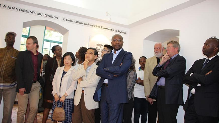Officials at the launch of the new Kandt House Museum in Kigali. Jean d'Amour Mbonyinshuti.