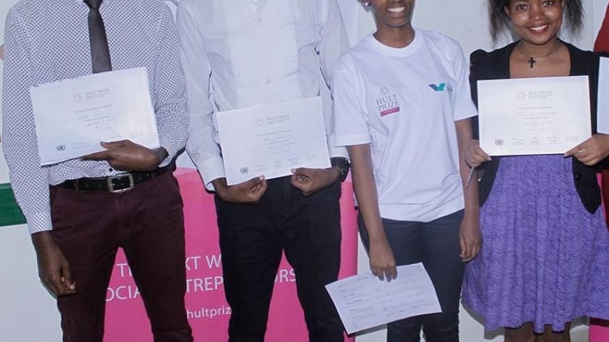 Spark team members qualified for the regional finals. / F. Byaruhanga