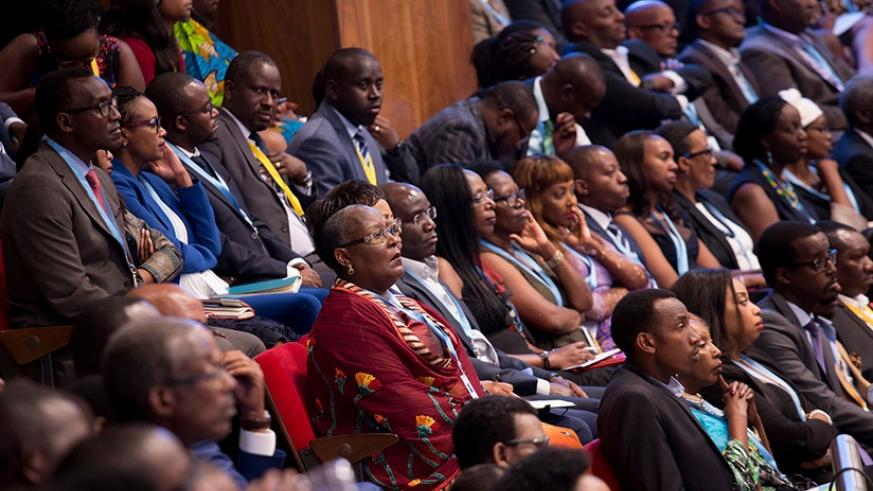 A cross section of delegates during the just-concluded Umushyikirano in Kigali. / Timothy Kisambira