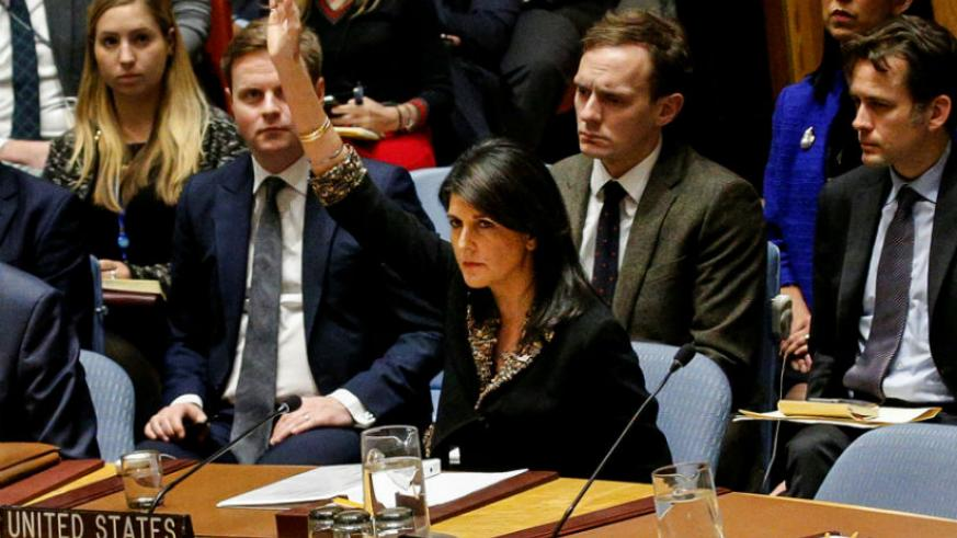 UN votes to reject Trump's position on Jerusalem, only the US and eight other countries voted against the resolution. / Internet photo