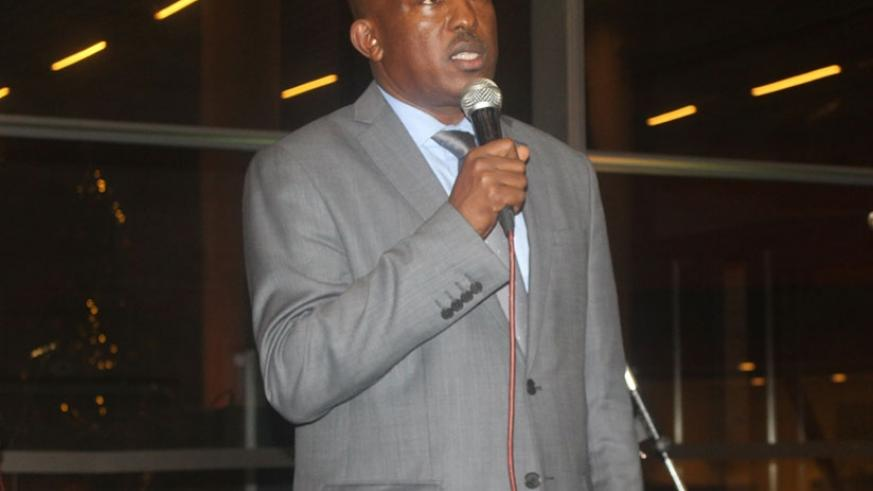 Richard Mugisha, the founder of Trust Law Chambers addressing the guests. (Photos by Michel Nkurunziza)