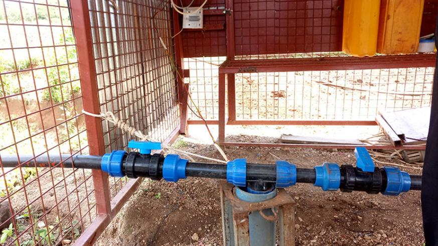 Groundwater used for irrigating crops for Munyeshuri is pumped from some 60 meters under the ground in Nyagatare District, Eastern Province, Rwanda. / Emmanuel Ntirenganya