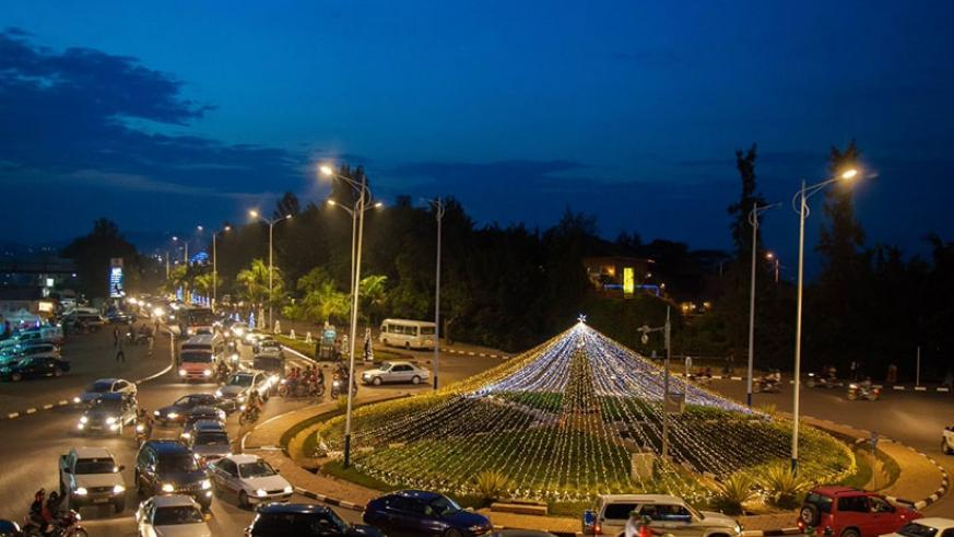 A Round–about at Gisementi in Gasabo District decorated to celebrate  Christmas festive season. Decorated streets is a common sight around Kigali as the country celebrates Christ....