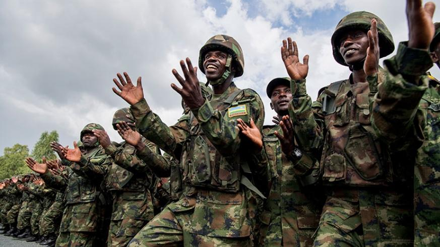 kagame honours armed forces calls for recommitment in new year s