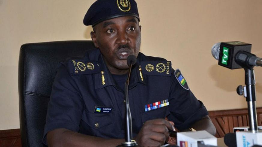 Rwanda Police spokesperson, ACP Badege commended the role of other security institutions for the strong partnership throughout the year. (File)