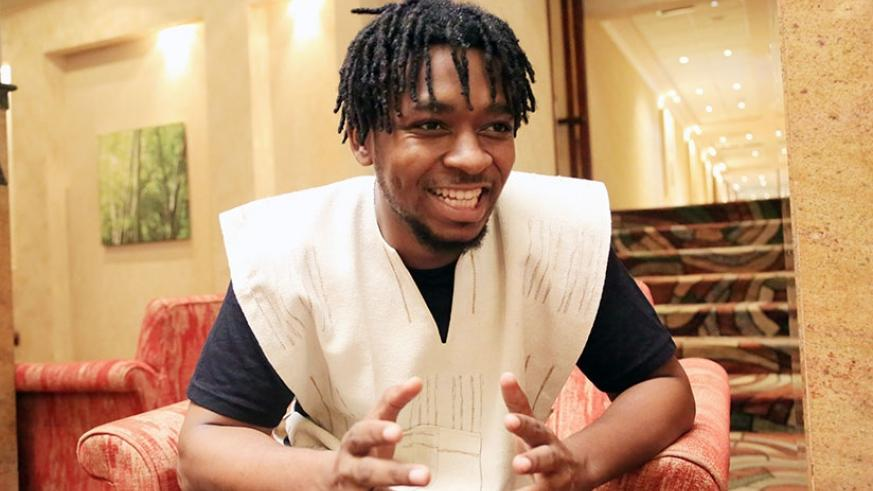 Accra based singer and music producer Joseph Bulley aka Magnom during an interview with The New Times at Kigali Serena Hotel on Tuesday. (Photo by Samuel Ngendahimana)