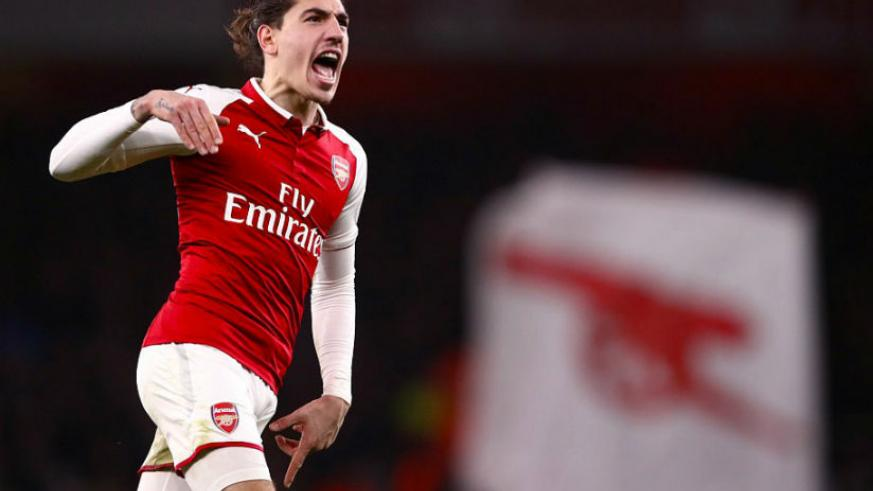 Hector Bellerin netted an injury-time equaliser for Arsenal as they rescued a 2-2 draw at the death against Chelsea. / Net photo
