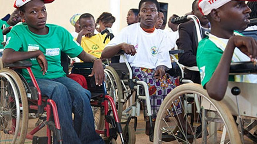 Some of the children with disabilities at the function at Petit Stade. File.