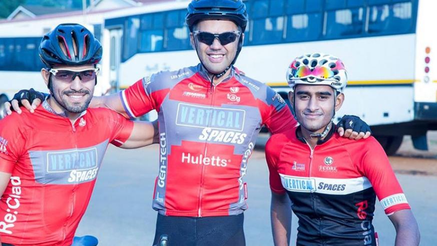 Darren Dunn, left, was part of the Swaziland team at last year's Africa Continental Road Championships in Egypt. Net photo