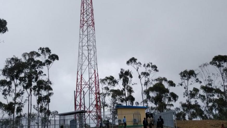 The mast is located on Kabuye hilltop in Gakenke. Courtesy.