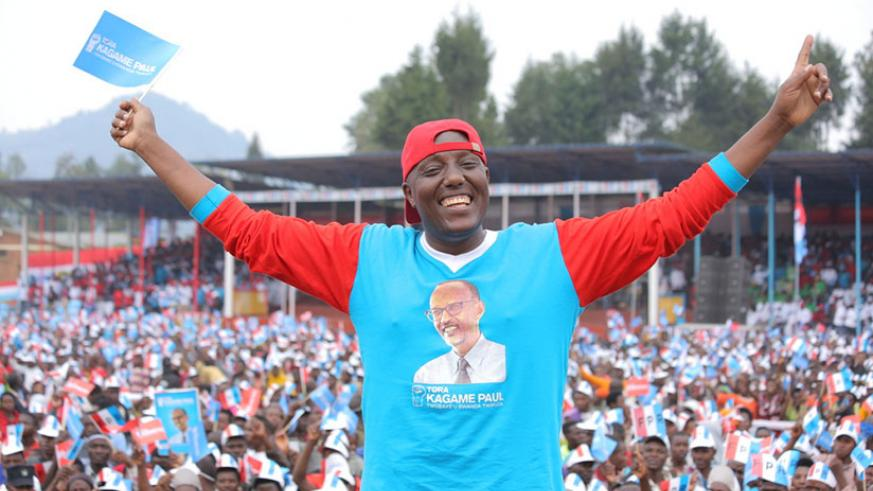 He was among the artistes that campaigned for RPF during last year's presidential campaigns. / Courtesy