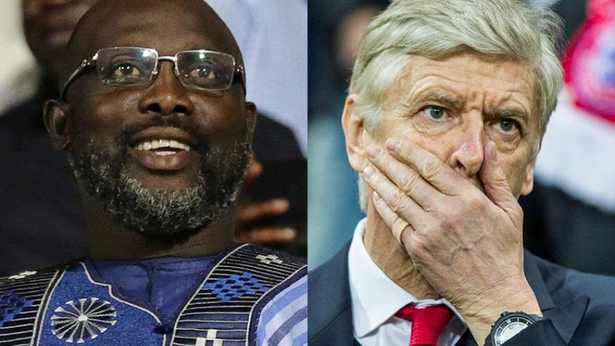 Weah invites Wenger to inauguration as president of Liberia. / Net photo