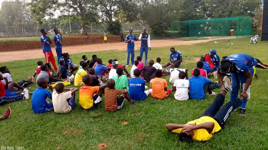 Over 40 students are currently attending a holiday cricket training camp at IPRC-Kigali. (J. Muhinde)