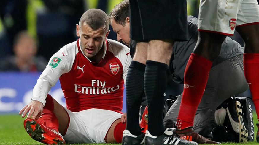 Arsenal were dealt an injury blow early in the second period when 26-year-old skipper Wilshere was unable to continue. / Net photo
