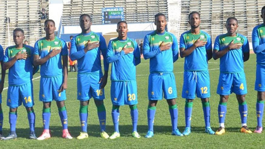 Rwanda national football team concluded their ten-day pre-CHAN training camp in Tunisia with a humiliating 4-1 loss to Algeria on Wednesday. / Courtesy