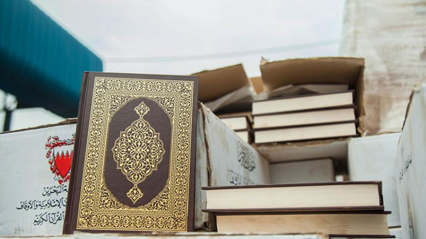 Some of the copies of the Holy Book of Muslim believers that were part of the consignment handed over to the Rwanda Muslim Community. N Imbabazi