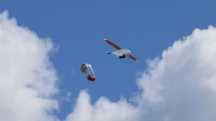 Rwanda uses drones to deliver blood supplies to remote areas. / Courtesy