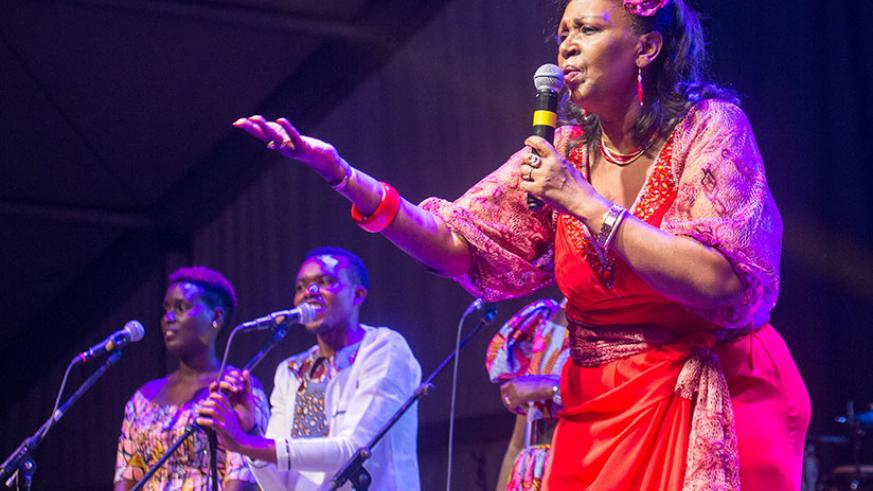 Cecile Kayirebwa performs at the Rwanda Konnect gala last year. Are local musicians exploited? / Faustin Niyigena