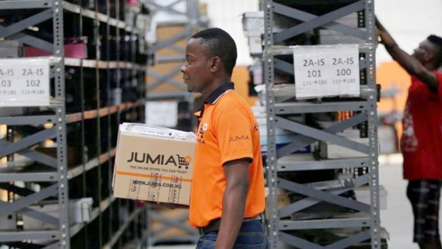 Processing orders in a Jumia warehouse. (Net photo)
