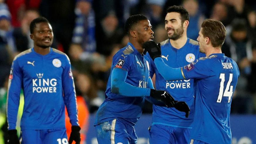 Leicester City's Kelechi Iheanacho scored the first goal in English football to be awarded using the Video Assistant Referee (VAR) as they reached the FA Cup fourth round. / Net photo