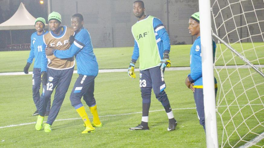 Amavubi during a full house training session ahead of their encounter against Equatorial Guinea. File.