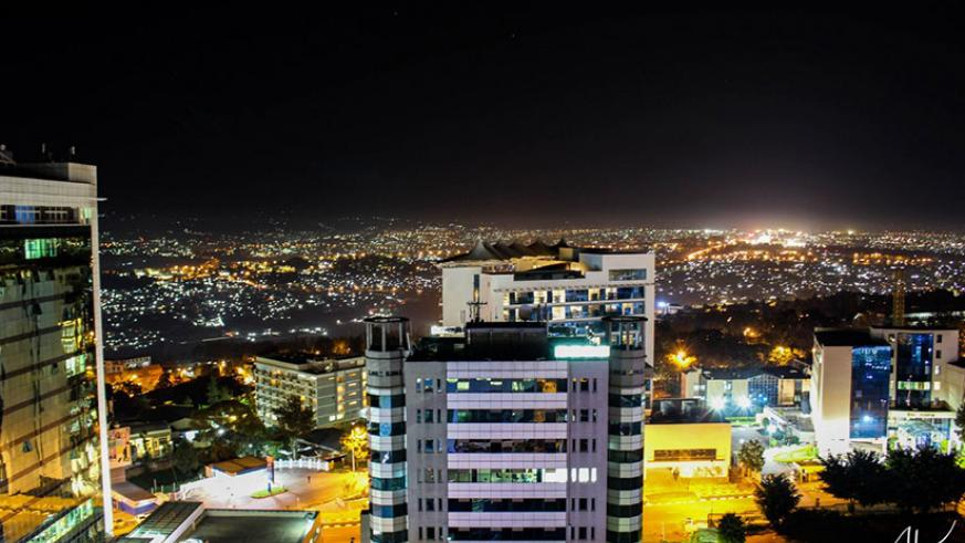 His shot of Kigali City during night time. / Courtesy