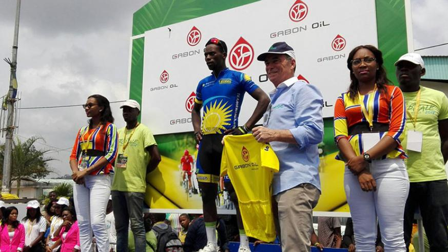 Areruya finished third in stage six, from Bitam to Oyem, to keep the yellow jersey, 18 seconds ahead of nearest rival Holler Nikodemus of Team Bike Aid. / Courtesy