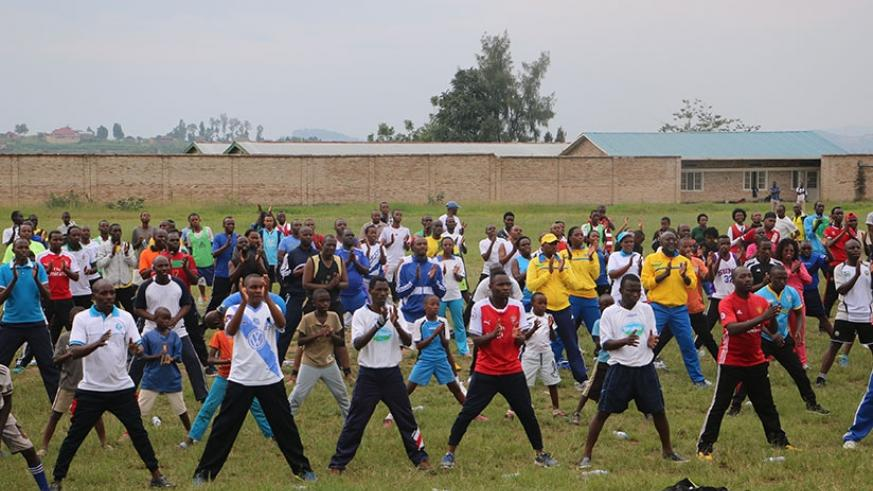 Forty-five officials from different districts of Rwanda completed a course in 'Sports for All' at Centre des Jeunes Olympafrica de Nyanza in Nyanza District. D. Sikubwabo.