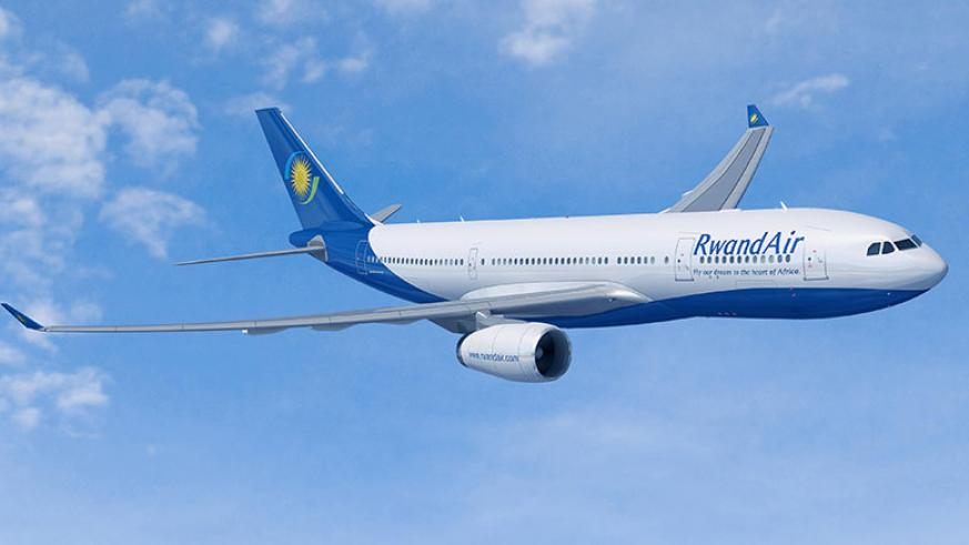 A RwandAir plane. Will the upcoming launch of the single African air transport market turn around aviation sector fortunes? / File.