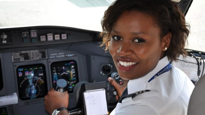Esther Mbabazi is Rwanda's first female commercial pilot, a field that is still largely perceived as men's domain.