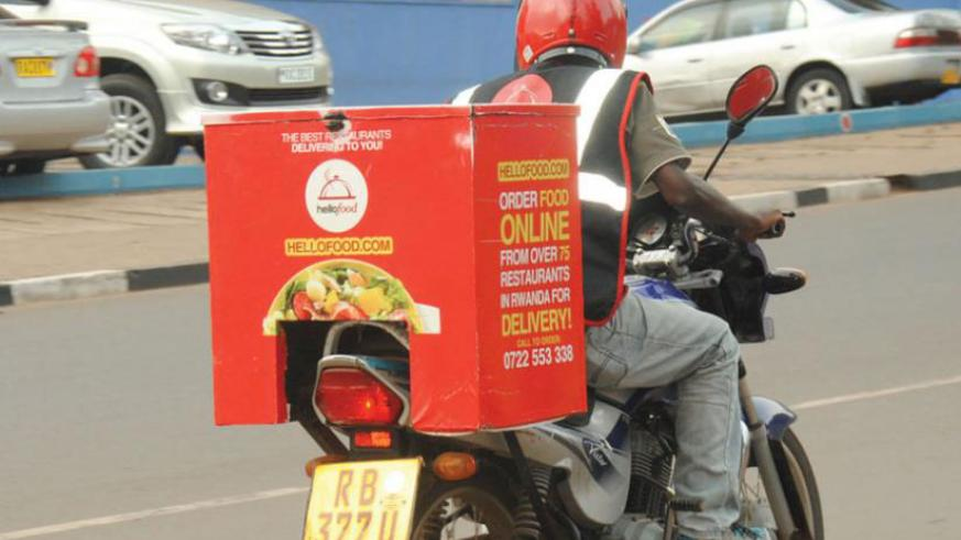 Hellofood Taxi-moto is one of new technologies that Rwandans are using. / File