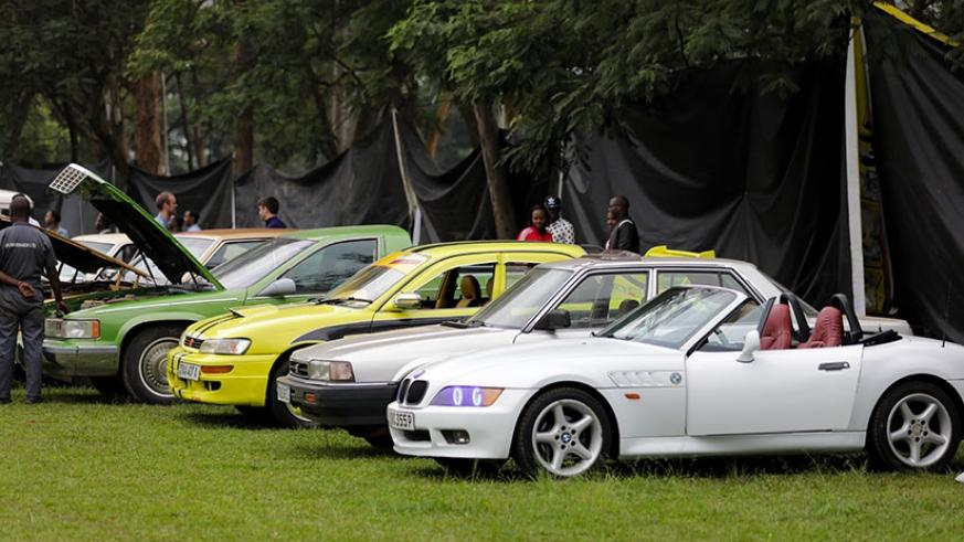 A variety of car models were showcased at the festival. Timothy Kisambira.