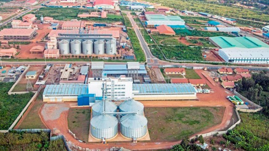 An aerial view of the Special Economic Zone in Kigali. File.