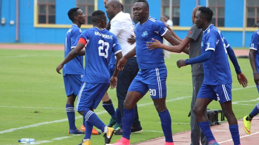Malian striker Ismaila Diarra (centre), who netted a first half hat trick in the 20th, 40th and 45th minutes, celebrates with teammates. Courtesy.