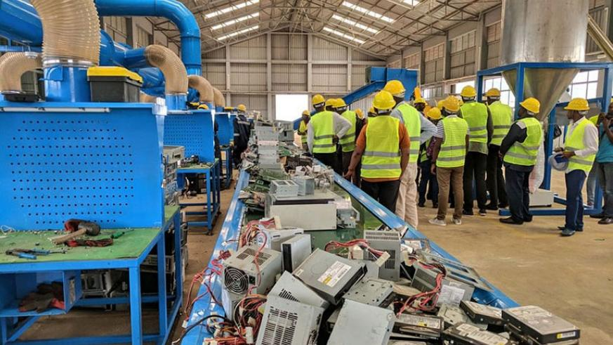 Over 15 types of electronic and electrical equipment (EEE) will be dismantled and recycled to generate other valuable materials. File.