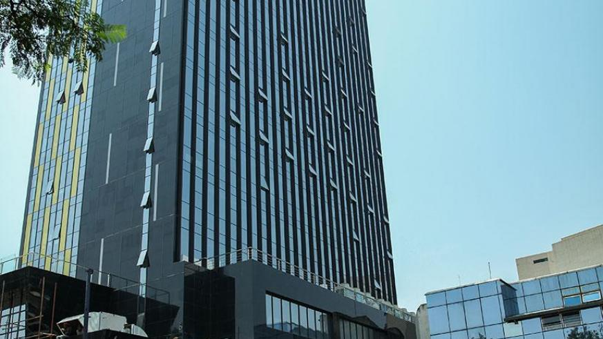 The bank's new head offices that are nearing completion in the city centre. / Timothy Kisambira