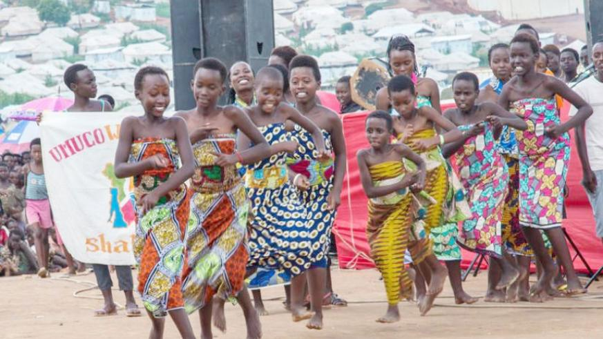 Young Burundian refugees at Mahama camp showcase their cultural dances during the festive season. / File photo