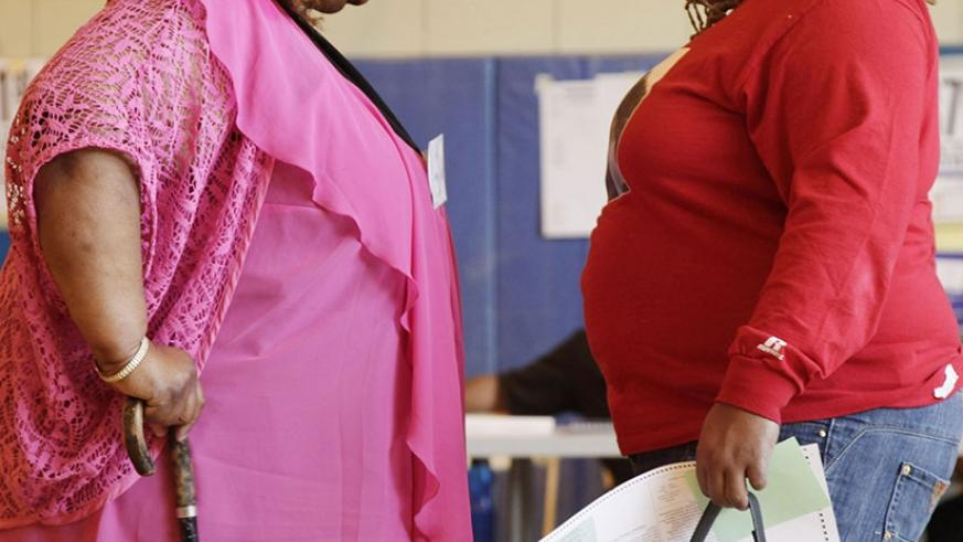 Extra large problems: Migration to cities has led to increased obesity in Africa. Net photo.