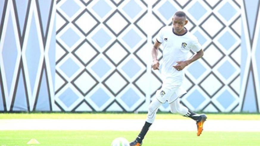 APR captain Jean Baptiste Mugiraneza during friday's training session. APR coach Jimmy Mulisa is banking on his experienced players to navigate past Anse Reunion of Seychelles. Courtesy