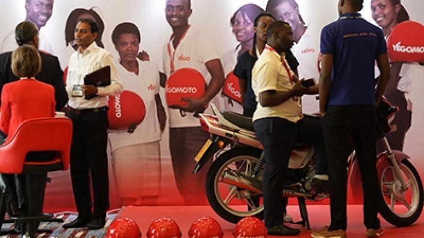 Yego Moto showcase their products at the ongoing Africa Tech Summit in Kigali. Timothy Kisambira.