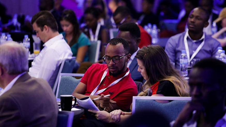 Delegates during the just-concluded Africa Tech Summit in Kigali. Timothy Kisambira.