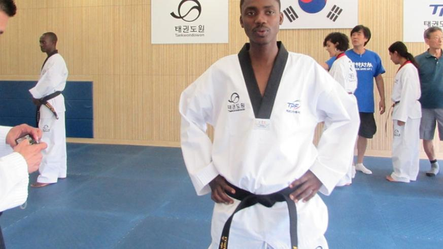 Regis Iyumva, seen here in a past competition in 2015. R. Bishumba.