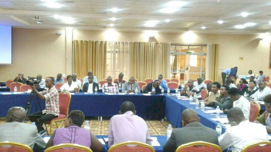 Participants during the meeting on Wednesday in Kigali. Michel Nkurunziza.