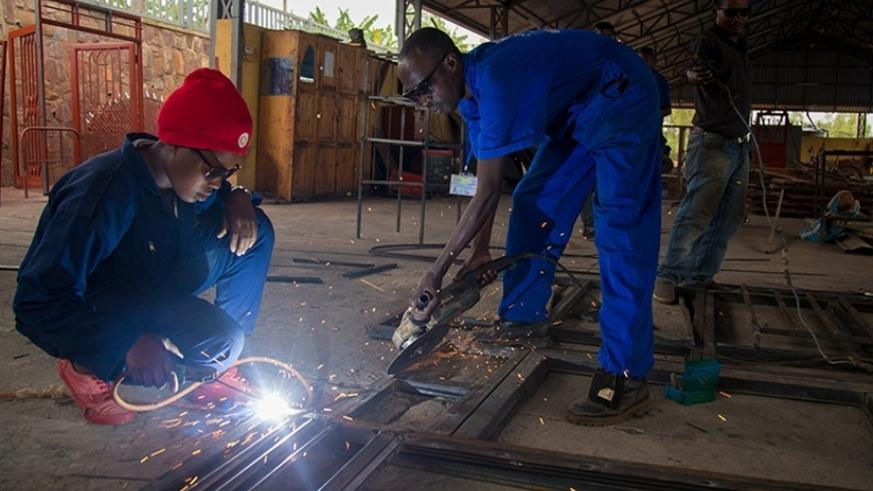 The power utility seeks to power productive sectors, like the welding and fabrication businesses, within the next five years. / Timothy Kisambira.