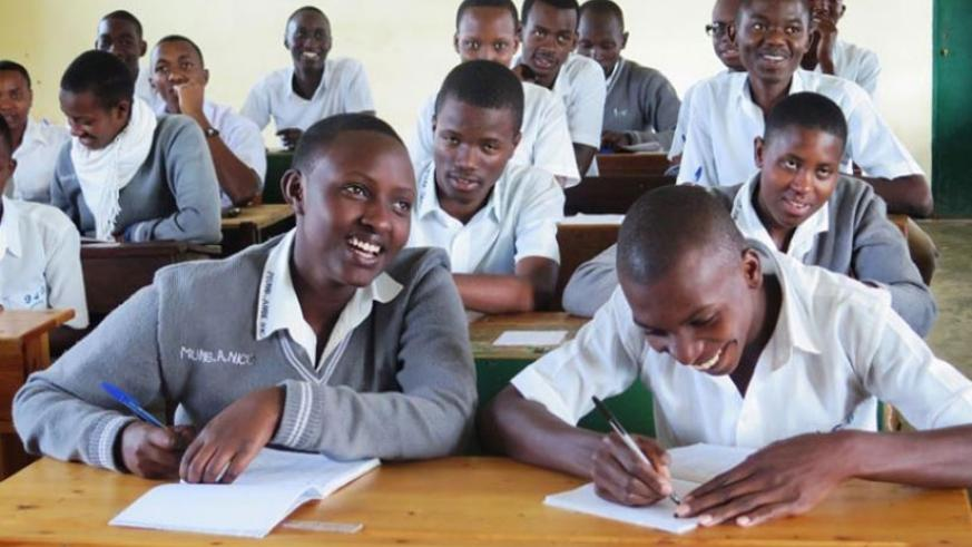 Students at GS Officiel de Butare in class. / File photo