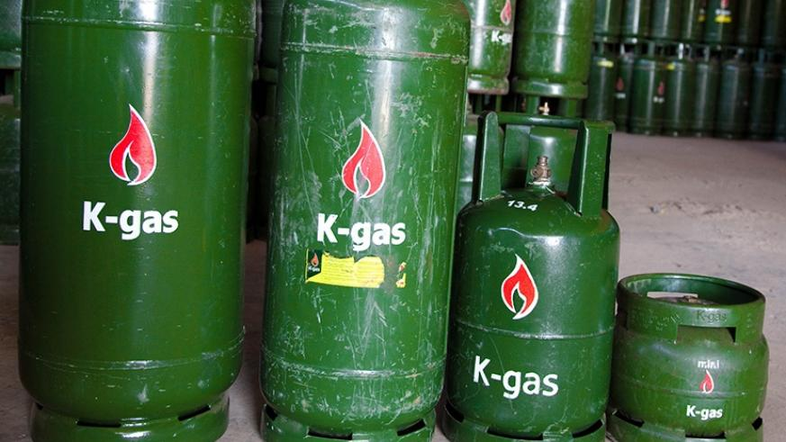 Gas cylinders in a store. Timothy Kisambira.